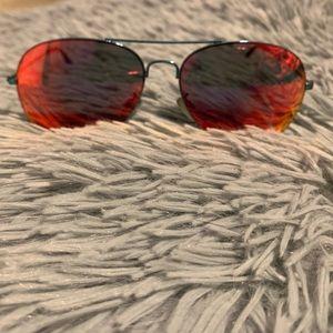 Steve Madden Red Aviator Sunglasses
